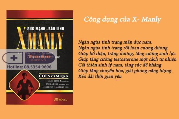 Công dụng của thuốc cường dương X Manly