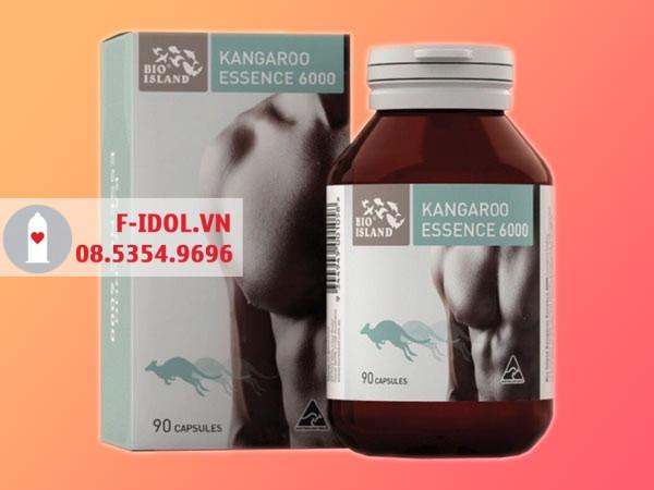 Mỗi hộp sản phẩm Bio Island Kagaroo Essencebao gồm 1 lọ 90 viên