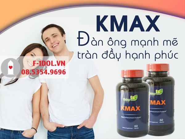 Mỗi hộp sản phẩm Kmax bao gồm một lọ 60 viên