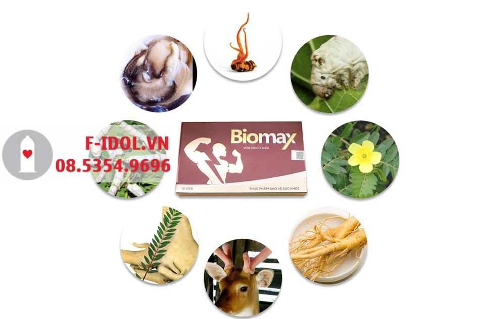 Các thành phần chính có trong viên uống BioMax