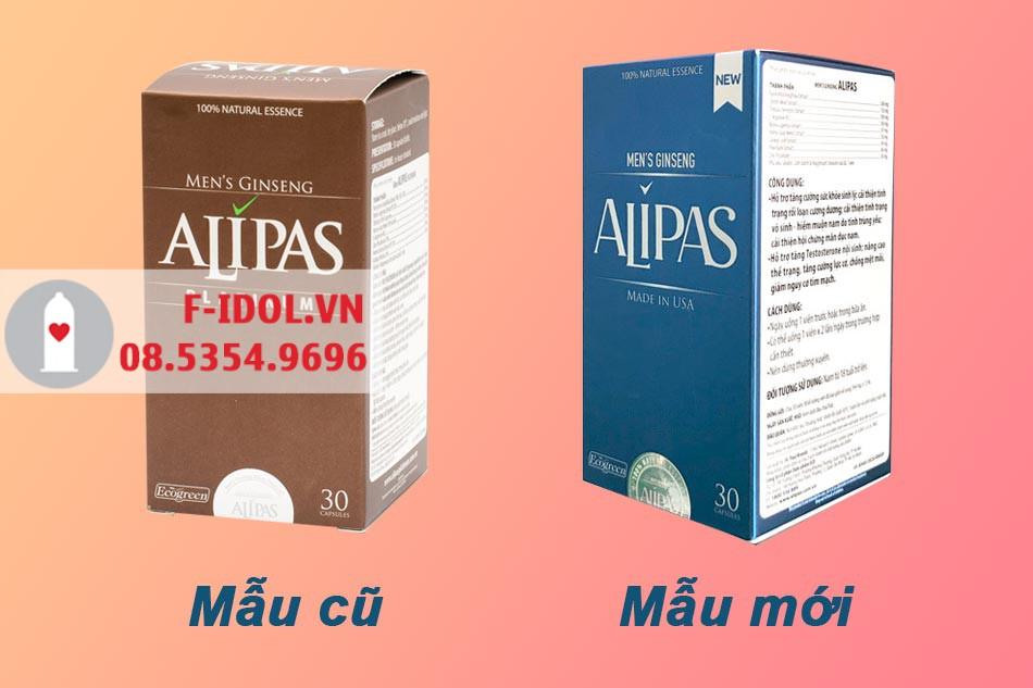 Sâm Alipas mẫu cũ và mẫu mới